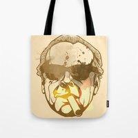 jack nicholson Tote Bags featuring Jack Nicholson by BIG Colours