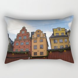 Stockholm Christmas Market Rectangular Pillow