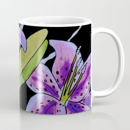 Purple tie dye flower Coffee Mug