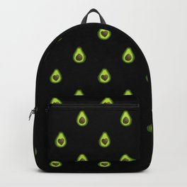 Avocado Hearts (black background) Backpack
