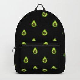 Avocado Hearts (black background) Backpack