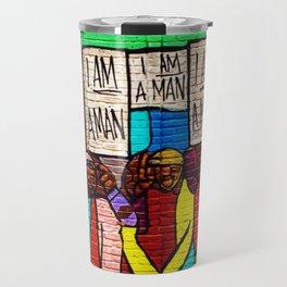African American Masterpiece 'I Am A Man' Portrait Travel Mug
