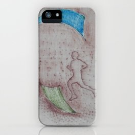 Grabado corredor iPhone Case