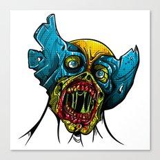 Zombie Wolverine Canvas Print