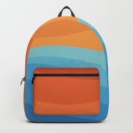 Colorful аbstract landscape Backpack