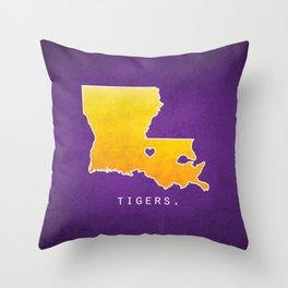 Louisiana State Tigers Throw Pillow