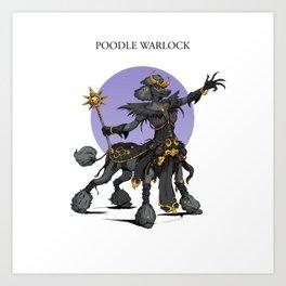 Poodle Warlock Art Print