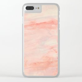 Dramaqueen - Pink Marble Poster Clear iPhone Case