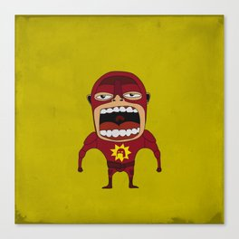 Screaming Crimson Bolt Canvas Print