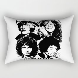 The 27 Club 1960's Rectangular Pillow