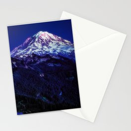 Mt Rainier Sunset and Full Moon 2017 Stationery Cards