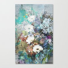 Shabby Chic impressionistic colorful floral Canvas Print