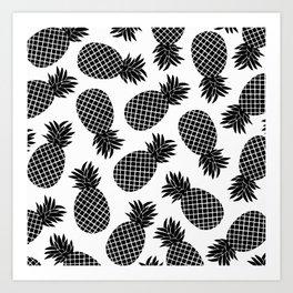 Pineapple In Black Art Print