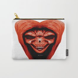 Red Haired Skull Carry-All Pouch