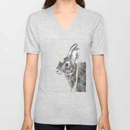 uni-hare All animals are magical Unisex V-Neck
