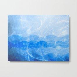 Energy Waves - Blue Version Metal Print