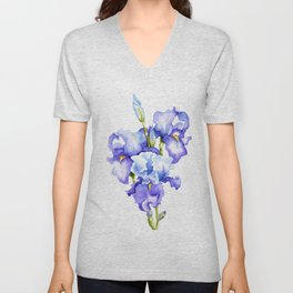 Spring Irises Unisex V-Neck