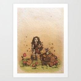 The Little Piggycorns Art Print