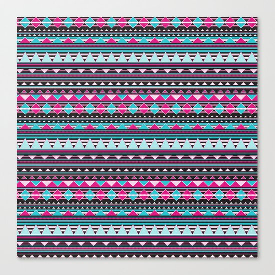 Aztec Stripes by Everett Co Canvas Print