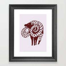 The Goat's Sin of Lust Framed Art Print