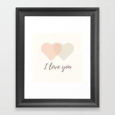 I love you (Two Hearts) Framed Art Print