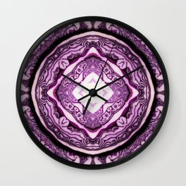 VeggieMandala Red Cabbage 3 Wall Clock