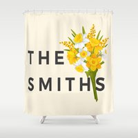 the smiths Shower Curtains featuring SMITHS by priscilawho