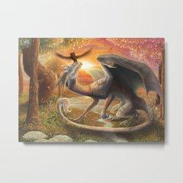 The Dragon and the Owl  Metal Print