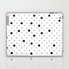 Pin Points Polka Dot Black and White Laptop & iPad Skin