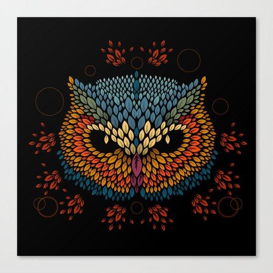 Owl Face Canvas Print