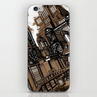 cityscape iPhone & iPod Skins featuring Cityscape by David Miley