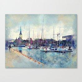 Tallinn Canvas Print
