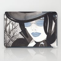 goth iPad Cases featuring Goth Girl by Sweet Bliss Art