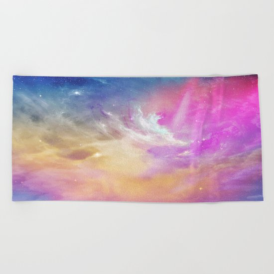Galactic waves Beach Towel