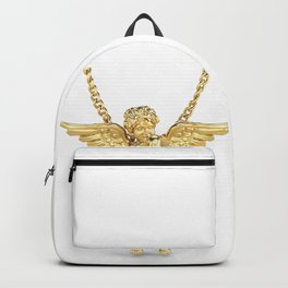 Gold Angel Pendant and Chain Trompe L'oeil Backpack