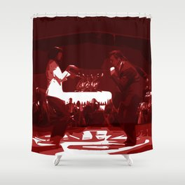 Minimal pulp Fiction Shower Curtain
