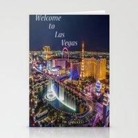 las vegas Stationery Cards featuring Las Vegas by Création Numérique du Rocher