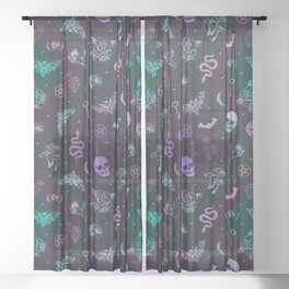 Witchcraft Pattern Sheer Curtain