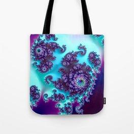 Jewel Tone Fractal Tote Bag