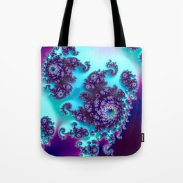 Jewel Tone Fractal Tote Bag
