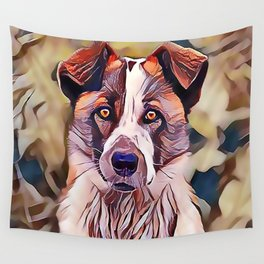 The Norwegian Elkhound Wall Tapestry