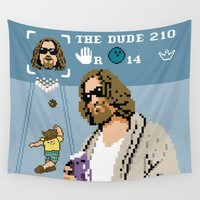 big lebowski Wall Tapestries featuring The Big Lebowski - The Dude Abides by Jude Buffum