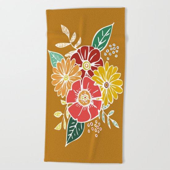 Abstract #369 Flower Power #9 Beach Towel