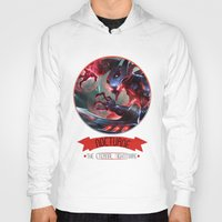 league of legends Hoodies featuring League Of Legends - Nocturne by TheDrawingDuo