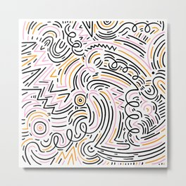 squiggle wiggles Metal Print