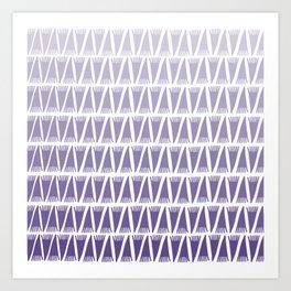 Tee Pee Gradient Ultra Violet Art Print