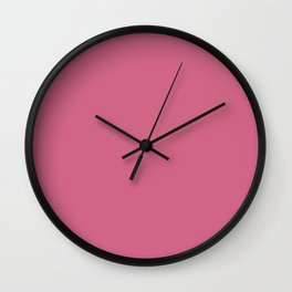 Pale Violet Red Solid Color Wall Clock