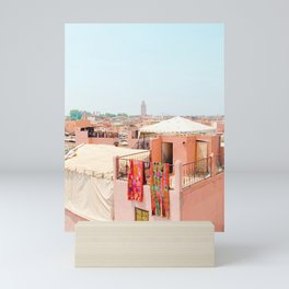 Marrakesh, Morocco's Pink Medina Buildings from Above Mini Art Print