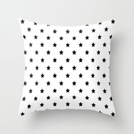 Black and white Star Pattern Throw Pillow