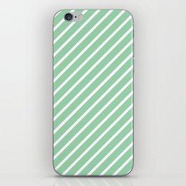 Mint Green Tight Stripes iPhone Skin